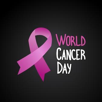 Cartaz da prevenção da consciência da doença do peito do dia do cancro do mundo