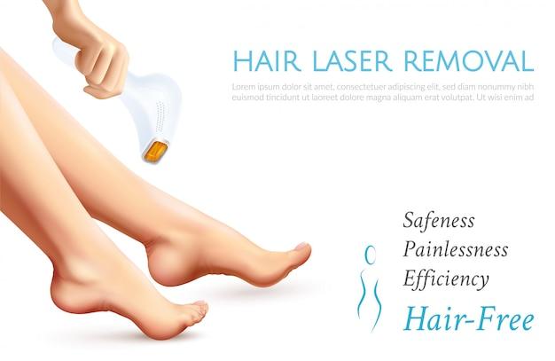 Cartaz da remoção do laser do cabelo