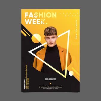 Cartaz da semana de moda com foto
