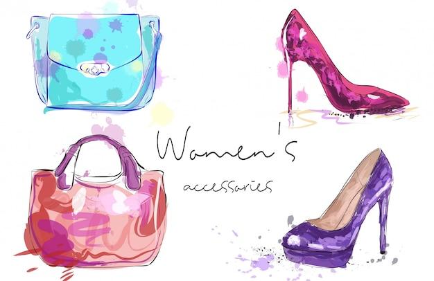 Cartaz de acessórios femininos.
