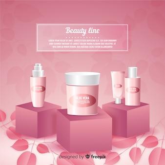 Cartaz de anúncio cosmético natural realista