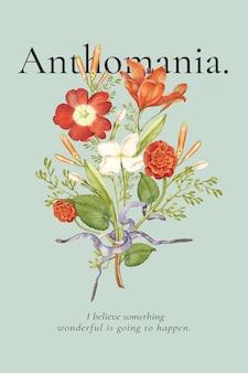 Cartaz de anúncio de modelo floral editável e estético