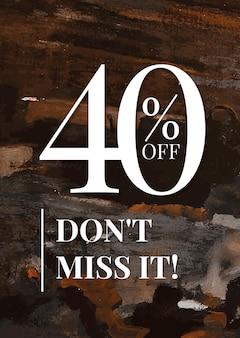 Cartaz de anúncio estético promocional de vetor de modelo de compra de venda de moda