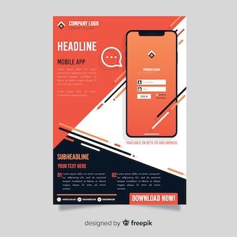Cartaz de aplicativo móvel de barras