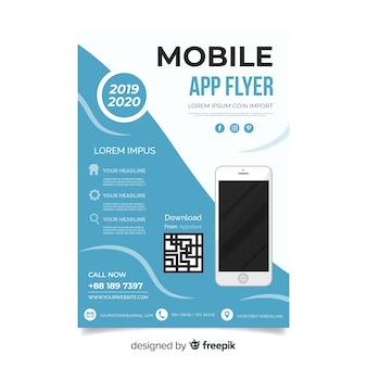 Cartaz de aplicativo móvel plana