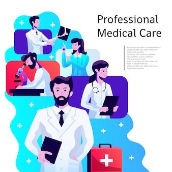 Cartaz de assistência médica