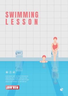 Cartaz de aula de natação