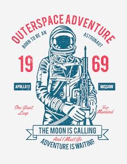 Cartaz de aventura do espaço exterior