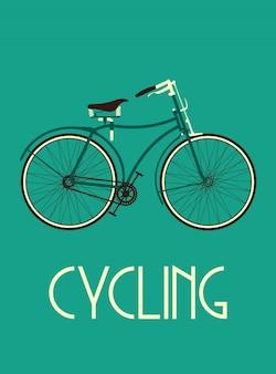 Cartaz de bicicleta retrô