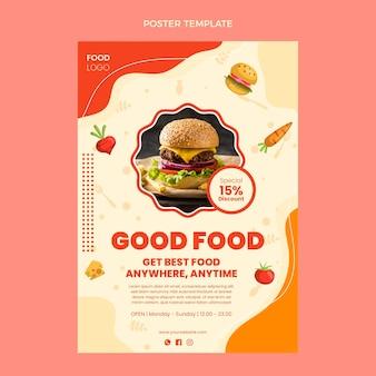 Cartaz de boa comida de design plano