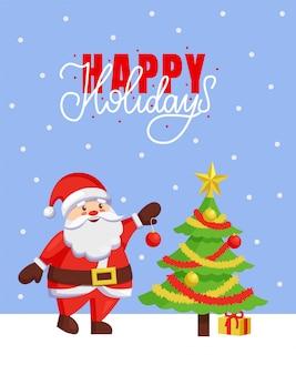 Cartaz de boas festas e feliz natal