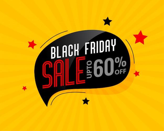 Cartaz de bolha de chat de venda sexta-feira negra abstrata
