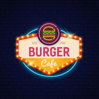 Cartaz de café burger