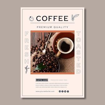 Cartaz de café de qualidade premium