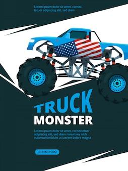 Cartaz de caminhão de monstro.