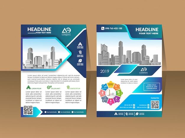 Cartaz de capa de design folheto de catálogo a4 folheto