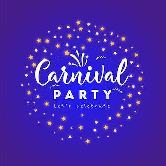 Cartaz de carnaval, banner com elementos de festa colorido