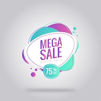 Cartaz de cartão de venda mega