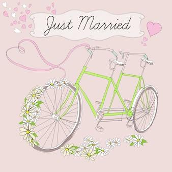 Cartaz de casamento com desenho vintage
