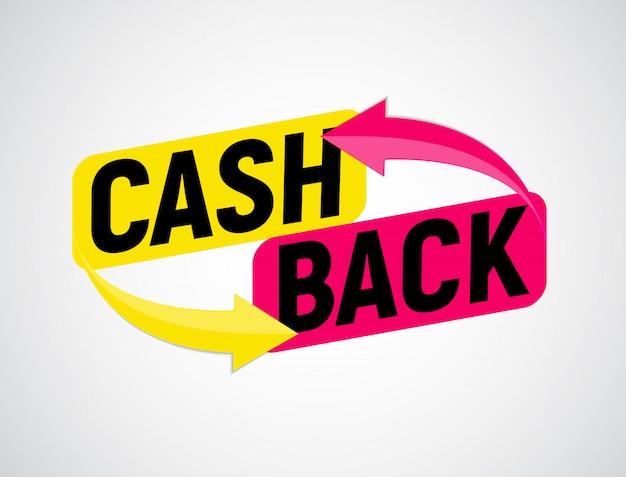 Cartaz de cashback de dinheiro com moedas de ouro do dólar.