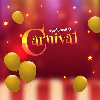 Cartaz de celebração de festa de carnaval