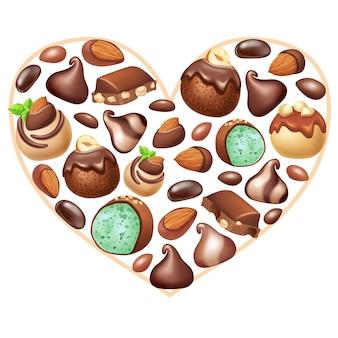 Cartaz de chocolate com nozes.
