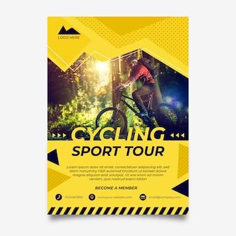 Cartaz de ciclismo com foto