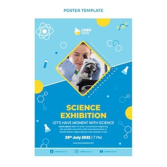 Cartaz de ciência de design plano