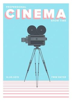 Cartaz de cinema com videocâmera