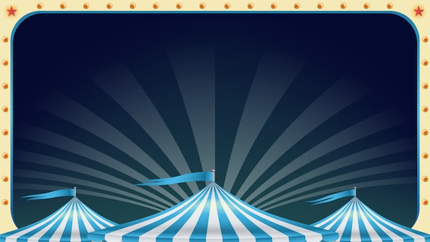 Cartaz de circo em branco.