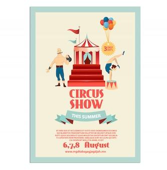Cartaz de circo para eventos do festival de circo