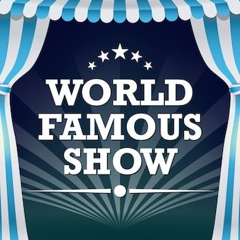 Cartaz de circo. show de mágica vintage.