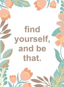 Cartaz de citações encontrar-se e ser isso