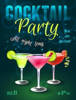 Cartaz de cocktails