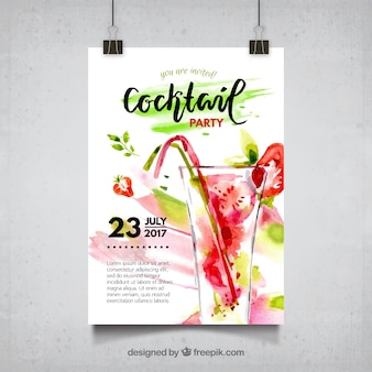 Cartaz de cocktails