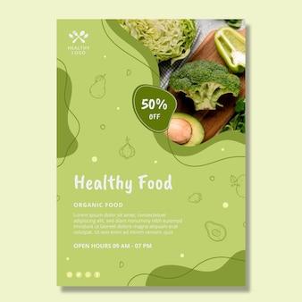 Cartaz de comida bio e saudável