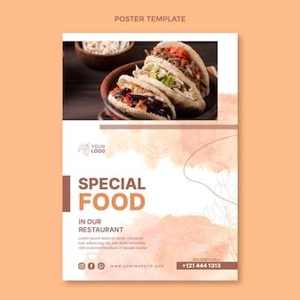 Cartaz de comida em aquarela