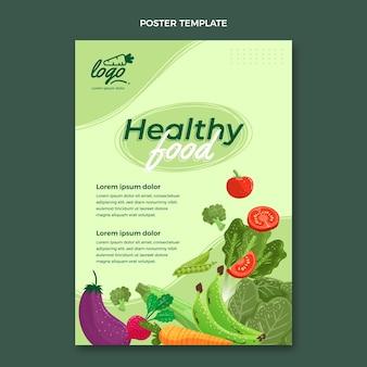 Cartaz de comida orgânica plana Vetor grátis