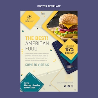 Cartaz de comida plana