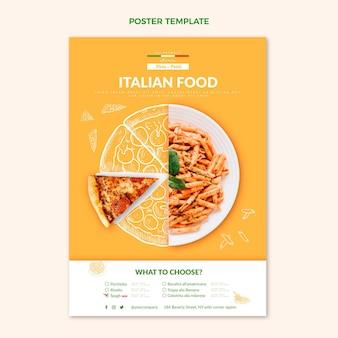 Cartaz de comida realista