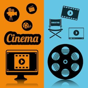 Cartaz de conceito de indústria de cinema cinema