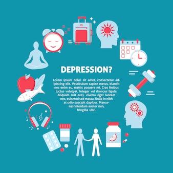 Cartaz de conceito de tratamento de depressão