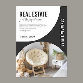 Cartaz de conceito imobiliário