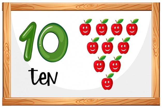 Cartaz de conceito número dez
