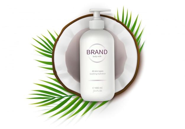 Cartaz de conceito para creme natural orgânico