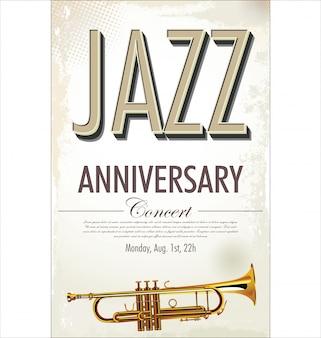 Cartaz de concerto de jazz