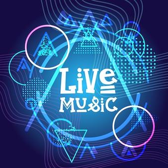 Cartaz de concerto de música ao vivo festival banner