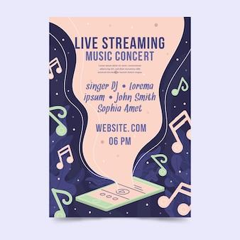 Cartaz de concerto de música ao vivo