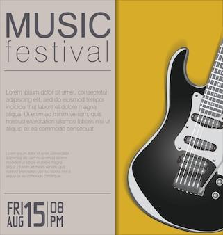 Cartaz de concerto de música