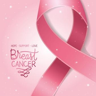 Cartaz de conscientização de câncer de mama